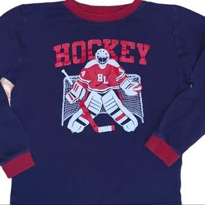 Pekkle Hockey Goalie Boys Long Sleeve Tee Shirt